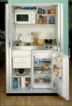 Kitchen closet.