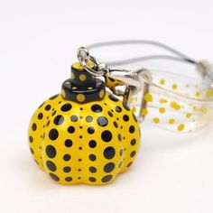 New! Yayoi Kusama Pumpkin strap yellow Authentic for Gift from Japan Artist #Asian