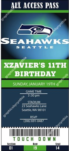 1000+ images about Seahawks Party on Pinterest | Seahawks ...