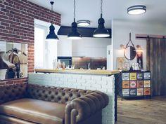 Проект от студии Perspective: квартира в стиле лофт 40 кв. м.