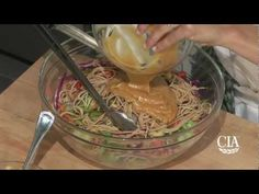 Asian Noodle Salad with the World's Premier Culinary College