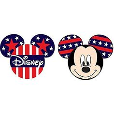 Disney Mickey Mouse Pride Antenna Topper Red White Blue - Officially Licensed and Manufactured Antenna Toppers - 2 Pack - Great for yourself of gift - Collect the whole series.
