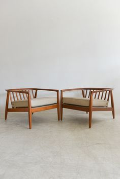 Sculpted Lounge Chairs by Folke Ohlsson for Dux | From a unique collection of antique and modern lounge chairs at https://www.1stdibs.com/furniture/seating/lounge-chairs/
