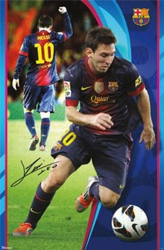 LIONEL MESSI POSTER  ACTION  Barcelona Football Club FC UEFA Soccer new brazil #Barcelona