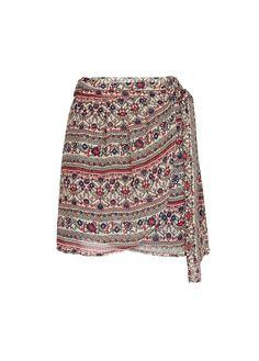 MANGO - Printed sarong skirt