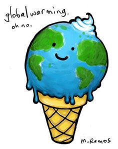 Earth is melting like an ice-cream cone.
