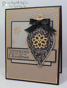 Embellished Ornaments in Tip Top Taupe by amyk3868 - Cards and Paper Crafts at Splitcoaststampers