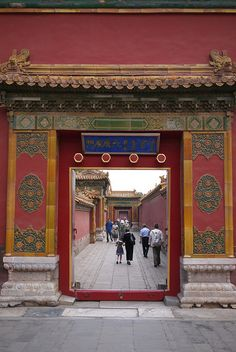Forbidden City, Beijing ~ only a few days left and my eyes will admire this gate, while I walk through.