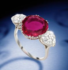 Royal Ruby –The Portland Ring Boasts Regal Provenance – Gemma News Service Cartier Jewelry, Ruby Jewelry, Bridal Jewelry, Antique Jewelry, Vintage Jewelry, Jewelry Rings, Fine Jewelry, Jewellery Box, Sapphire Earrings