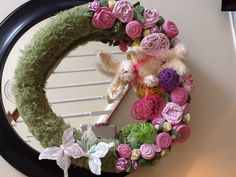 Sarah and I made this wreath.
