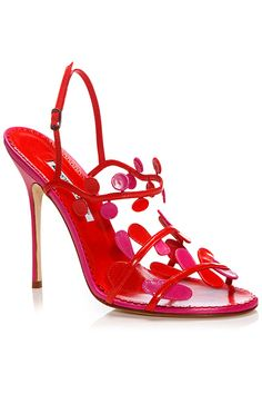Manolo Blahnik Red Sandals Spring-Summer 2014