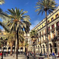 Plaça Reial - Barcelona, Spain