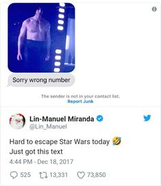 How do you accidentally text Lin-Manuel Miranda OML Hamilton Lin Manuel Miranda, Fandom Crossover, Hamilton Musical, Lol, Last Jedi, Reylo, Founding Fathers, Good People, It Cast