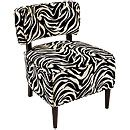 Zebra accent chair from Big Lots