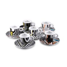 This signed and numbered, limited edition illy Art Collection cup set was designed exclusively for illy by Tobias Rehberger, one of Germany's most renowned contemporary artists, to mark the International Art Exhibition (Venice Biennale). Cappuccino Cups, Espresso Cups, Coffee Cups, Tobias Rehberger, Coffee Break, Coffee Time, Cupping Set, E Design, Contemporary Artists