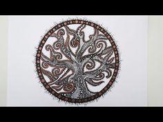 Zentangle Zeichnung #6 * Zeitraffer - YouTube