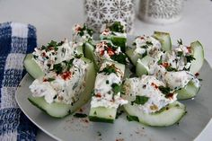 Stuffed Cucumber Bites - Divalicious Recipes