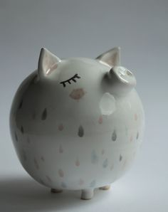 Aurelius the Pig - sweet piggy bank, handmade by Ceramics  Studio Marta Turowska