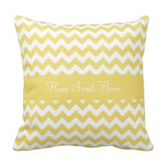 Daffodil Yellow Chevron Pillow .............. This design features a daffodil yellow chevron pattern. Add some color to any room with this pillow.