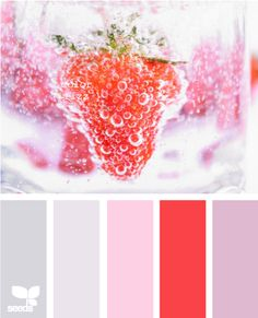 Grey and pink always look so pretty and sweetly romantic together. #colours #colors #palette #combo