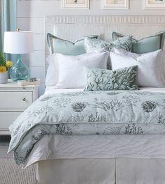 Looking for Nerida Duvet Cover Set Eastern Accents ? Check out our picks for the Nerida Duvet Cover Set Eastern Accents from the popular stores - all in one. Coastal Bedding, Coastal Bedrooms, Tropical Bedding, Coastal Curtains, Coastal Rugs, Coastal Style, Coastal Decor, Bed Duvet Covers, Duvet Cover Sets