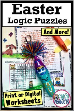 Teach Easter math brain teasers critical thinking & problem solving with answers for kids in printable or digital worksheets for middle school or elementary on Teachers Pay Teachers. Brain games challenges are simple use but hard to solve. 4th Grade, 5th grade & 6th love matrix logic puzzles with answers and writing prompts. Easy use! (Level 4, 5, 6) #Easter #iteach456 #teacherspayteachers #teachersfollowteachers #education Schools first Teacher Pay Teachers Core standard curriculum… 6th Grade Activities, Brainstorming Activities, Teaching Activities, Learning Games, Hands On Activities, Kids Learning, Teaching Resources, Classroom Resources, Classroom Ideas