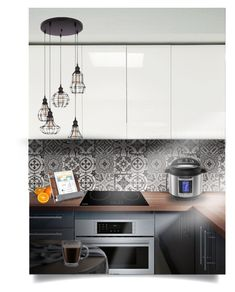 """My kitchen"" by pugovka ❤ liked on Polyvore featuring interior, interiors, interior design, home, home decor, interior decorating, Bosch, Frontgate, Europe2You and kitchen"