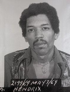Jimi Hendrix – Musician Mug Shots Jimi Hendrix Experience, Russell Young, Celebrity Mugshots, Hey Joe, Thing 1, Iconic Photos, Mug Shots, Black History, Blues