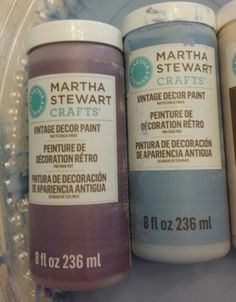 Martha Stewart's line of chalk paint is awesome and only 9.99 for 8 ounces (30% off right now at Michaels )   : )