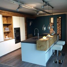 Idéias de cozinha, Design, Design e Imagens - Küche - Kitchen Interior, New Kitchen, Interior Design Living Room, Kitchen Decor, Kitchen Ideas, Küchen Design, House Design, Update Kitchen Cabinets, Sweet Home