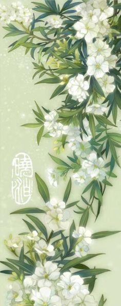 晓泊:夹竹桃。