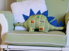 Download our free pattern to sew this cute dino stuffed toy, for the little cuties in your life.