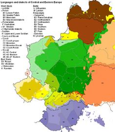 Languages and dialects of Central and Eastern Europe.