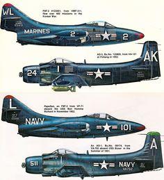 All sizes | Grumman F9F Panther & Douglas AD-1 Skyraider (Korean War) | Flickr - Photo Sharing!