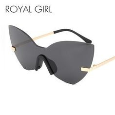 2becb64f518 Lisipieces-ROYAL GIRL New Rimless Cat Eye Women Sunglasses Royal Girls