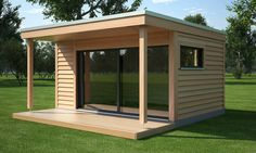 Modern Office great wooden summer house in the garden Backyard Office, Backyard Studio, Backyard Sheds, Garden Office, Wooden Summer House, Gym Shed, Guest House Shed, Guest Houses, Best Home Gym