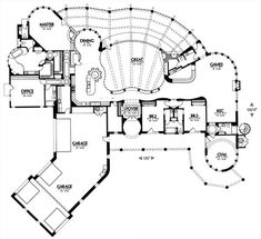 5,816 square feet. floor plan #1507. Rec Room for sewing. Bedroom ...