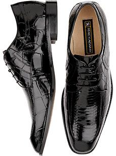 Stacy Adams Black Lace-Up Shoes