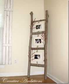 log photo ladder (can be nailed or lashed together)