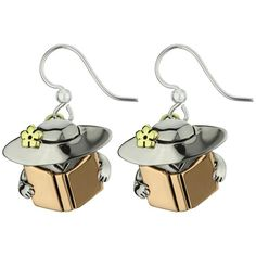 Book Lady Earrings : The Hunger Site