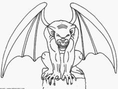 gargoyle line Art - Bing images in 2019 | Gargoyle drawing ...