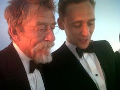 John Hurt and Tom Hiddleston A lovely moment in Cannes 2013 #OnlyLoversLeftAlive