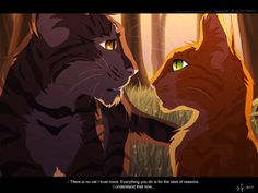 Warrior Cats by Erin Hunter, Art By Mizu-no-Akira, Brambleclaw Telling Squirrelflight That He Trust Her Warrior Cat Memes, Warrior Cats Fan Art, Warrior Cats Series, Warrior Cats Books, Warrior Cat Drawings, Learning To Love Again, Love Warriors, Comic, Animation