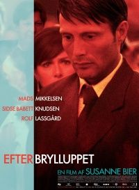 """""""After The Wedding"""" 2006. Manager of orphanage in India returns to Copenhagen, where he discovers a life-altering family secret. Dir: Susanne Bier. Script: Anders Thomas Jensen. Stars: Mads Mikkelsen, Sidse Babett Knudsen, Rolf Lassgard. """"I use it [hand-held-camera] in order to enable actors to move around freely...I want them to be truthful at all times...they should be able to move and not be bound by a fixed camera position. I think if it's used for style it's a mistake."""" - Susanne Bier"""