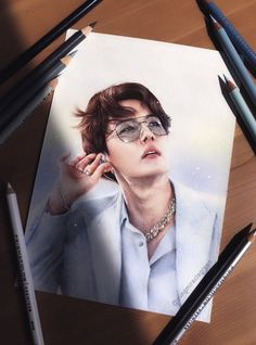 Hoseok Bts, Bts Taehyung, Bts Bangtan Boy, Jhope, Kpop Drawings, Pencil Drawings, Korean Art, Bts And Exo, Color Pencil Art