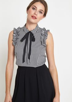 Elegant poplin blouse top with ruffle embellishment from comma