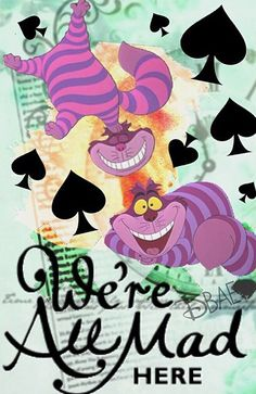 Alice in Wonderland // Cheshire Cat Alice In Wonderland 1951, Alice And Wonderland Quotes, Adventures In Wonderland, Lewis Carroll, Disney Love, Disney Magic, Disney Art, Chesire Cat, Were All Mad Here
