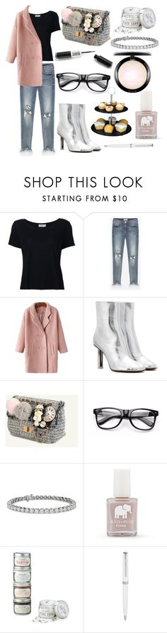 """""""#45"""" by food-iv ❤ liked on Polyvore featuring Frame Denim, Vetements, Blue Nile, FOSSIL, MAC Cosmetics and Montblanc"""