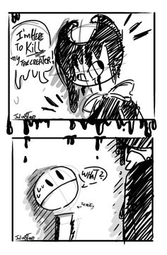 Bendy and the ink machine/ Funny Comic / Comic by Julia Breithaupt Tavares!