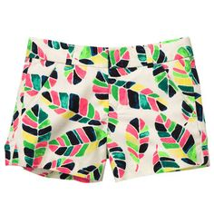 Flat-Front Feather Print Chino Shorts @Abigail Phillips McCann and loves those.